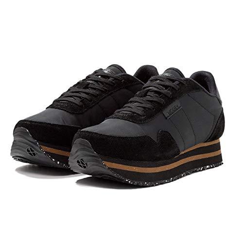 Nora Leather Ii Black Baskets Textil Femme Pearl Woden Platform Ydun HwPHCq