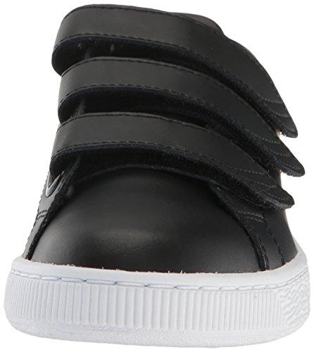 Puma Mens Basket Classic Strap B W Fashion Sneaker Puma Black-puma White ... 82f497d6a