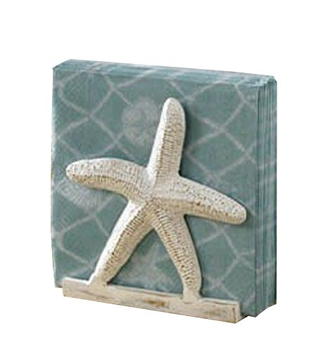 Tropical Nautical Starfish Lunch Napkin Holder (Shell Decor Coastal)