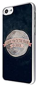 XiFu*Meiipod touch 4 Galaxy Space love you to the moon Cool Design Fashion Trend Case Back Cover Metal and Hard Plastic CaseXiFu*Mei