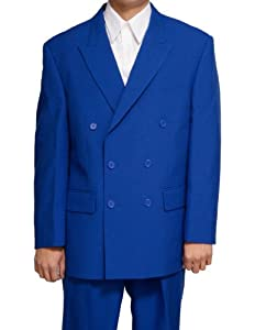 B001OGREHQ New Double Breasted (DB) Royal Blue Men's Business Dress Suit