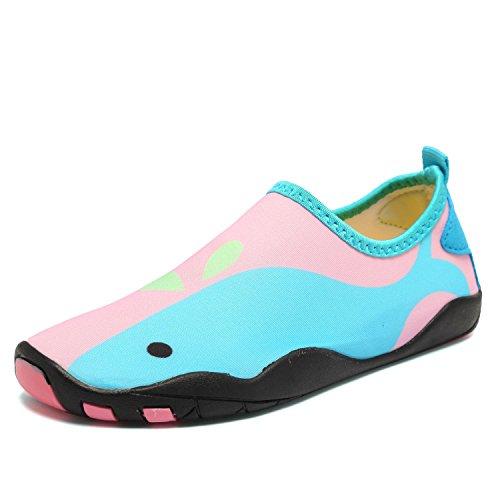 CIOR Fantiny Boys & Girls Water Shoes Lightweight Comfort Sole Easy Walking Athletic Slip on Aqua Sock(Toddler/Little Kid/Big Kid) 2w.pink