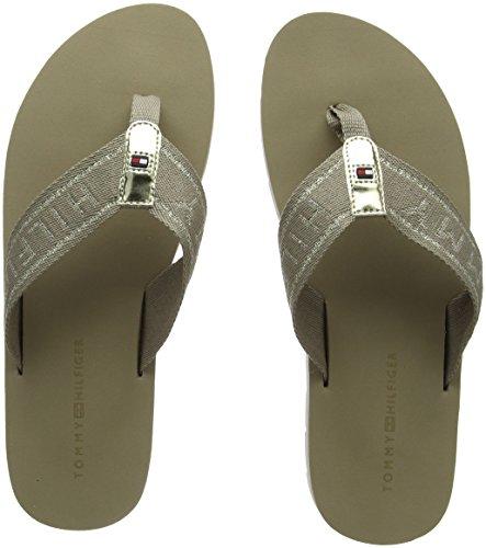 Beach Femme Beige Sandal Hilfiger Essential Flexible Tongs cobblestone Tommy 068 qPaytFct