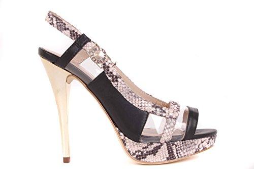 Versace Women's Court Shoes Black Schwarz/Beige