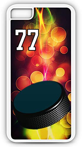 iPhone 6 Plus 6+ Phone Case Hockey H051Z by TYD Designs in White Plastic Choose Your Own Or Player Jersey Number 77 (Iphone 6 Devils Hockey Case)