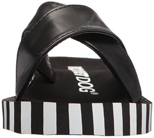 Rocket Dog Women's Moon Smooth PU/Vertical Stripes EVA Slide Sandal Black yUvkZXqX
