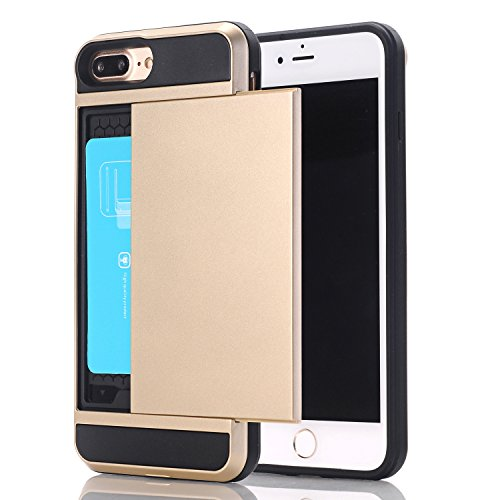 iPhone SE Case , iPhone 5S Case ,iPhone 5 Case ,Alkax[Card Slot Holder][Heavy Duty] Slim Fit Wallet Case Dual Layer Protection Shock Absorbing Rubber Bumper Cover+ Stylus -