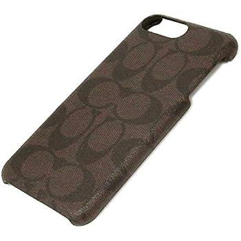 online retailer c9b04 50408 Amazon.com: Coach Signature Coated Canvas Phone Case for iPhone 8 ...