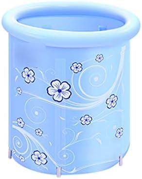 バスバレル大人用折りたたみ式バスタブ厚めの温浴槽子供用折りたたみ式バスタブ保温素材浴槽折りたたみ収納 浴室用設備 (Color : Blue, Size : 70*78cm)