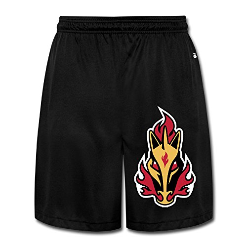 fan products of PKTWO Calgary Flames Rapidash Men's Casual Short Running Pants Shorts XXL Black