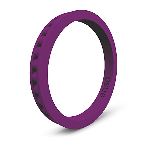 (Enso Rings Column Silicone Ring Plum Purple Size: 6)