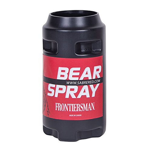 FRONTIERSMAN Bike Holster for Bear Spray - Rugged and Secure - Securely Carry Your Bear Spray When Mountain Biking (Spray Holder Mace)