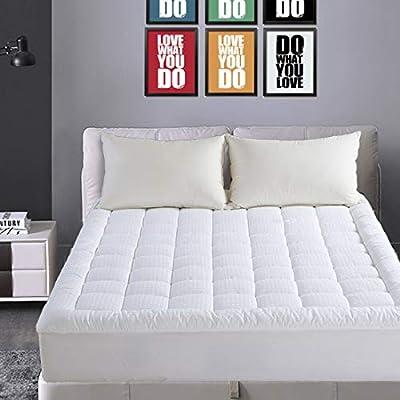 Luxury Polyester Matress Pad Snow Down Alternative Fill Deep Pocket Baffle Box