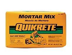 QUIKRETE CO 1102-60 Mortar Mix Bag, 60 L...
