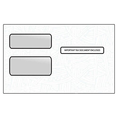 1099R and 1099 Misc. Double Poly Window Envelopes, 5-3/4