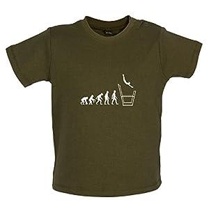 Baby T-Shirt - Evolution of Man - Stufenbarren - 8 Farben - 3 bis 24 Monate -...