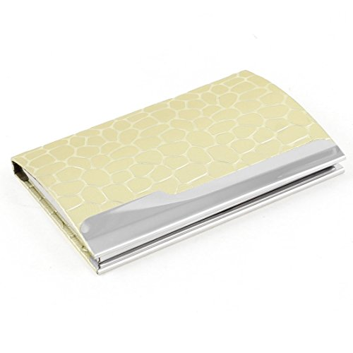 Uxcell Snake Pattern Magnetic Closure Business Card Storage Case, Gold Tone