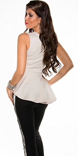 In-Stylefashion - Camiseta sin mangas - para mujer Beige