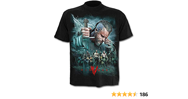 Viking Warrior Mens Longsleeve T-Shirt BlackBladeSpiral Direct