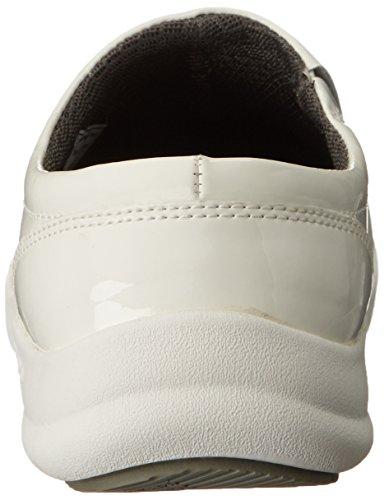 Zapato De Trabajo Antideslizante Bogsey Mujer's Ramsey De Charol Blanco