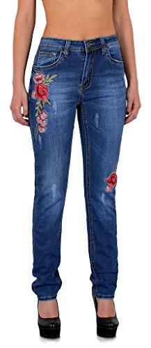 jean vintage brod en tailles Jean Z280 Z280 Look destroyed jeans pantalon rtro grandes femmes slim femme fleur qwvw4nFg