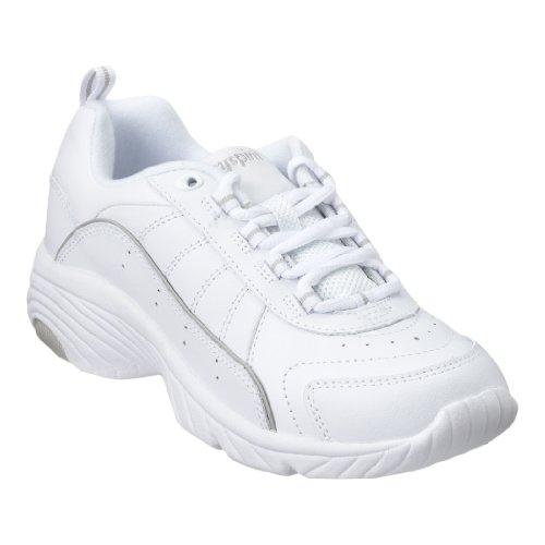 - Easy Spirit Punter Womens Lace Up Sneakers Wide Width White/Light Grey 9 W