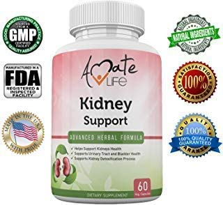 Kidney Supplement Detox and Cleanse with Cranberry Extract Supports Healthy Kidney and Urinary Tract for Men and Women Vegetarian Friendly 60 Vegetable Capsules by Amate Life