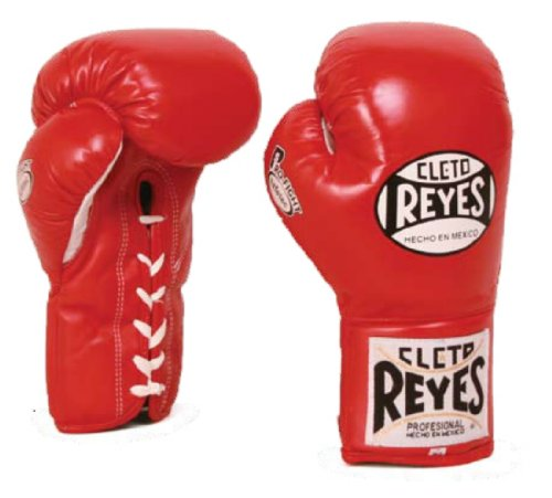 Cleto Reyes Safetec Professional Fight Gloves, Red, 10-Ounce