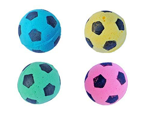 PETFAVORITES-FoamSponge-Soccer-Ball-Cat-Toy-Best-Interactive-Cat-Toys-Ever-Most-Popular-Independent-Pet-Kitten-Cat-Exrecise-Toy-balls-for-Real-Cats-Kittens-SoftBouncyNoise-Free-12-Pack