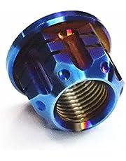 RTAMO Rear Axle Nut M16 32D,24S,18H Titanium Alloy CNC Nuts (M16X1.5-typeB, BruntBlue)