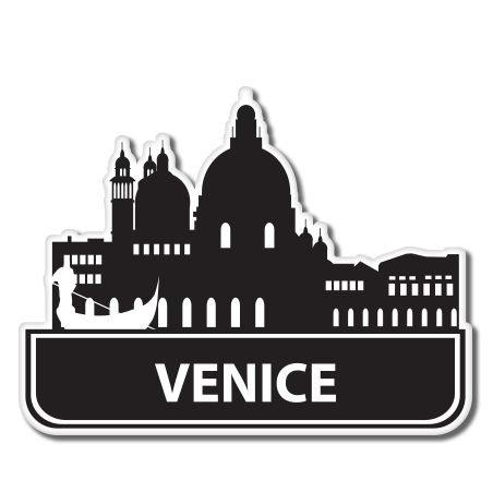 - Venice Italy Visit Travel Suitcase Vinyl Sticker - Car Phone Helmet - SELECT SIZE