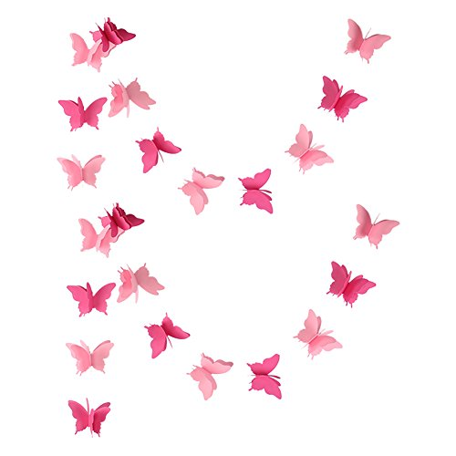Zilue Butterfly Banner Decorative Paper Garland for Wedding, Baby Shower, Birthday & Theme Decor 110 Inches Long Set of 2 Pieces -