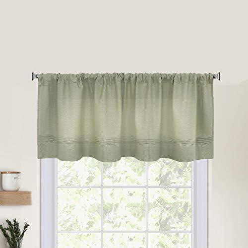 Elrene Home Fashions Pintuck Kitchen Window Valance, 60