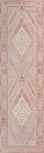 Momeni Rugs ISABEISA-7PNK2030 Isabella Traditional Geometric Flat Weave Area Rug, 2'0