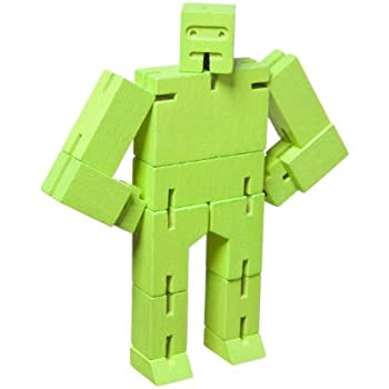 Micro Cubebot Brain Teaser Puzzle, Lime Green