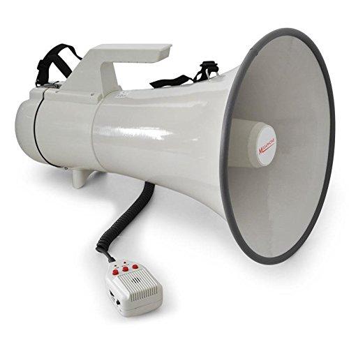 Auna Profi Megaphone Megafon Megaphone 45 Watt (1,5km Reichweite, 20 Sek. Aufnahme, Sirene)