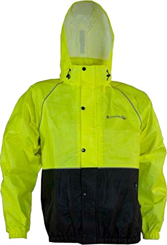 COMPASS RT23132-5510-3X Roadtek Reflective T50 Riding Jacket, HV Lime/Black, 3X-Large For Sale