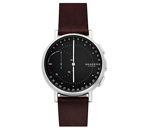 Skagen Signatur Connected Leather Hybrid Smartwatch