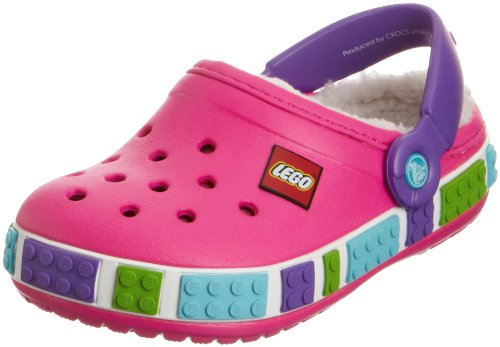 - Crocs 14631 CB Mamth Lego Clog (Toddler/Little Kid),Neon Magenta/Neon Purple,10 M US Toddler