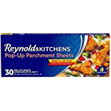 Reynolds Kitchens Pop-Up Parchment Paper Sheets, 10.7x13.6 Inch, 30 Count (30 Count-2 pack)
