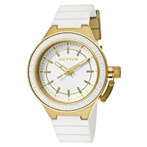 Activa By Invicta Women's AA301-010 White Dial White Polyurethane Watch