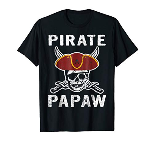 Pirate Papaw Skull Shirt Halloween Costume Gift Idea -