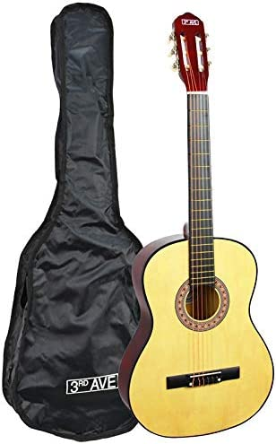 3rd Avenue STX20EN - Guitarra clásica, Natural, 1/2 tamaño ...
