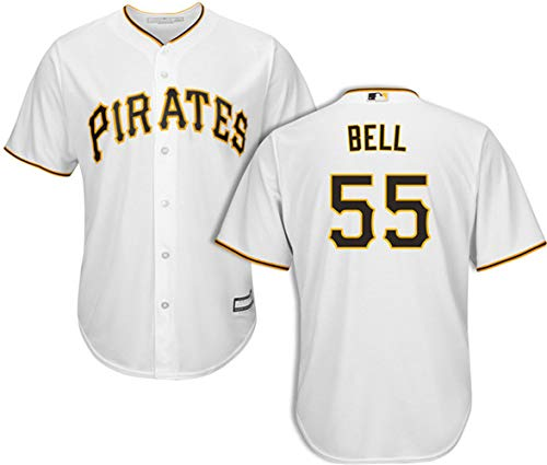 Men's #55 Josh Bell Pittsburgh Pirates Home Jersey XL White