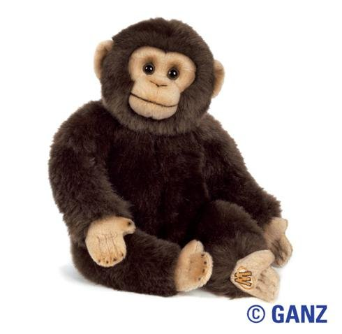 Webkinz Chimpanzee - Webkinz Signature Smaller Size Chimpanzee September 2010 Release + 1 Free Pack Series 3 Trading Cards