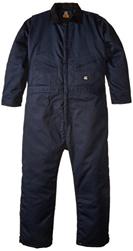 Berne Men's Big-Tall Deluxe Insulated Coverall, Navy, 3X-Large/Tall (Deluxe Insulated Coverall)