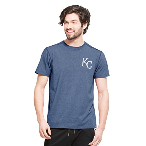 ('47 MLB Kansas City Royals Men's Overload Tee, Large, Shift Blue)