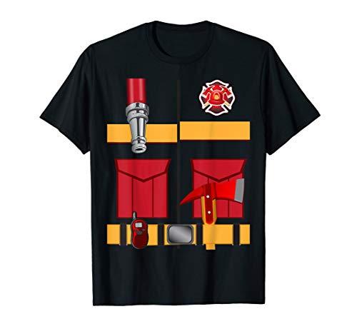 (Fireman Uniform Firefighter Costume Shirt Halloween DIY)