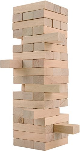 CoolToys Timber Tower Wood Block Stacking Game - Original Edition (48 Pieces)