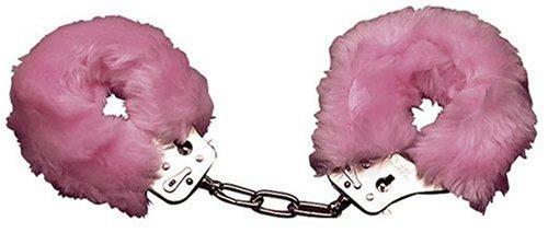 Orion 525421 Love Cuffs Rose, Liebes-Handschellen abnehmbaren Plüschbezügen inkl. zwei Schlüsseln